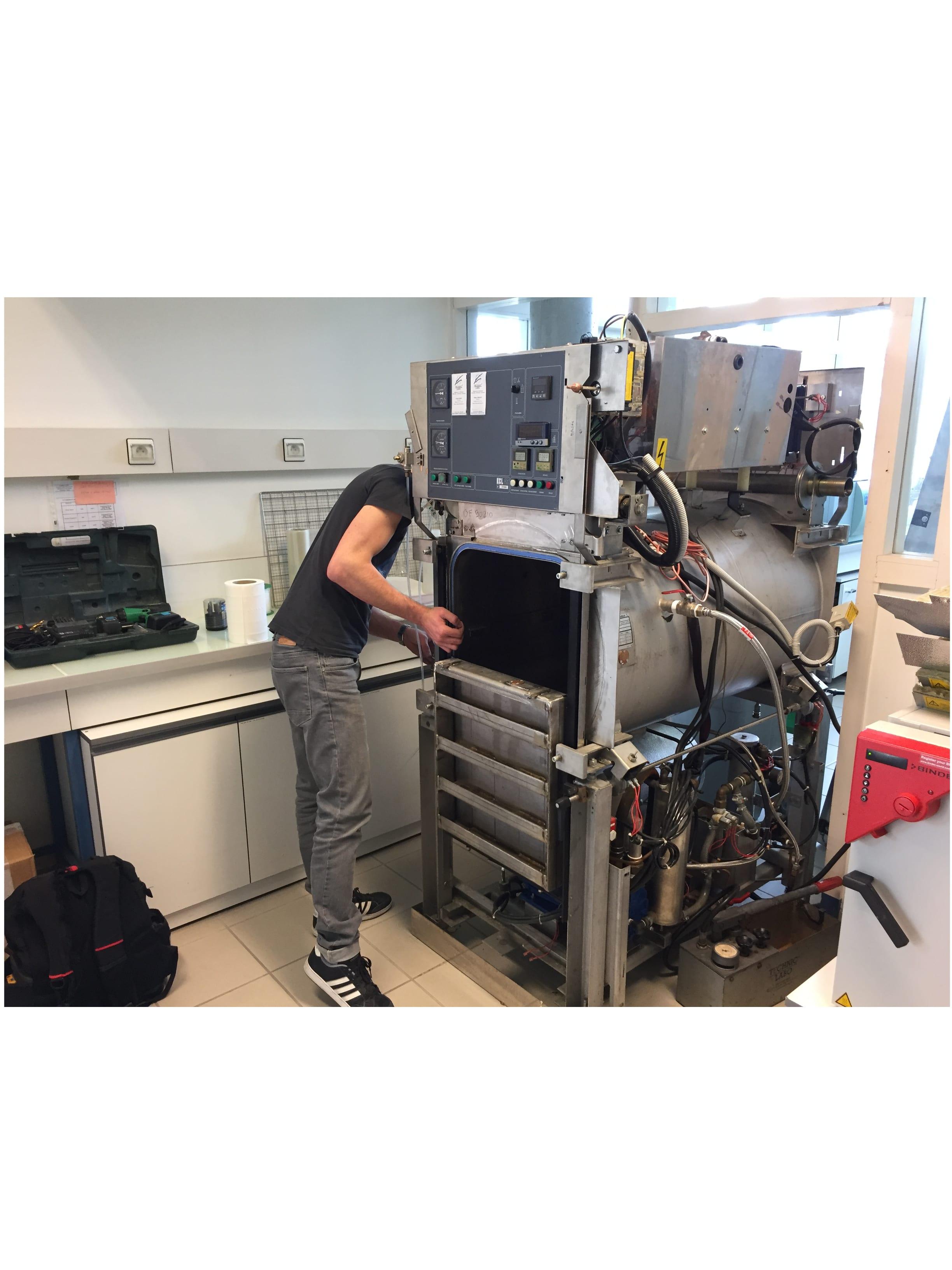 Préparation épreuve autoclave horizontal